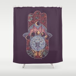 The Hand Shower Curtain