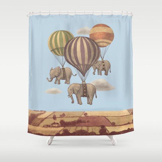 Flight of the Elephants - colour option Shower Curtain