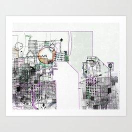 Deteriorated Detroit  Art Print