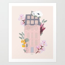 Rose House #2 Art Print
