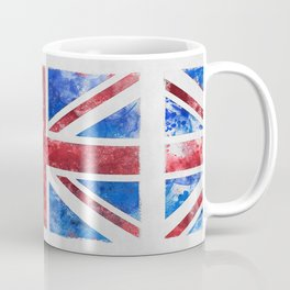 Union Jack Great Britain Flag Grunge Coffee Mug
