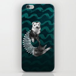 Ferret Slinky iPhone Skin