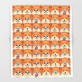 cute hamster pattern Throw Blanket