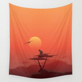African sunset Wall Tapestry