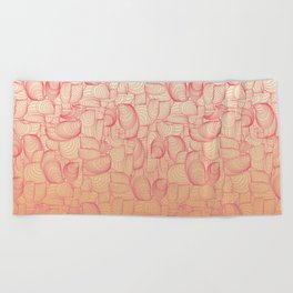 Coral Shells Beach Towel