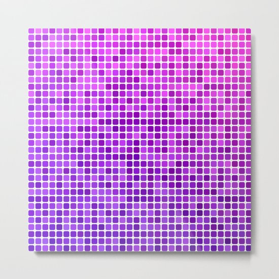 Pink purple mosaic Metal Print