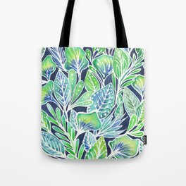 Masked Flora Collection Leaves Tote Bag