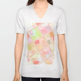 Re-Created Mirrored SQ LXXXVII by Robert S. Lee Unisex V-Neck