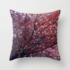 Under the trees - Autumn Throw Pillow