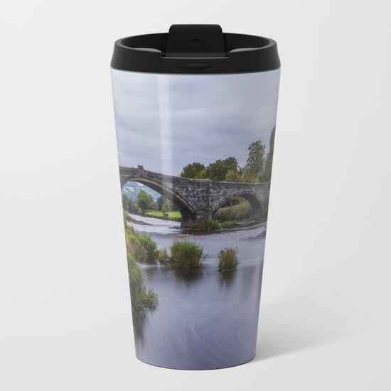 Autumn Cottage Metal Travel Mug