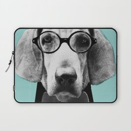 Mr Italian Bloodhound the Hipster Laptop Sleeve