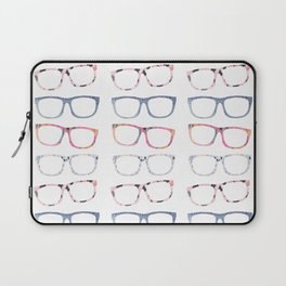 Bespectacled // Watercolor Glasses Print Laptop Sleeve