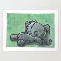 Sleeping Bunny Art Print