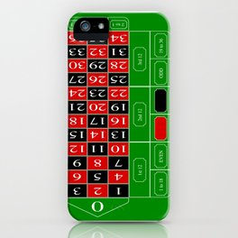 Roulette Table iPhone Case