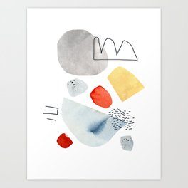 Walking Backwards Art Print