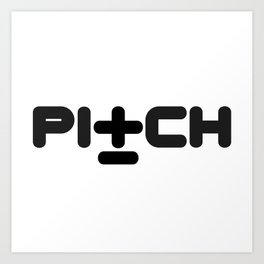 Pitch Recordings logo Art Print