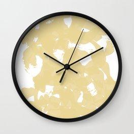 Golden Brush Strokes Wall Clock