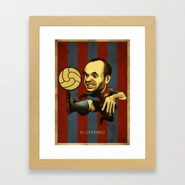 El Cerebro Framed Art Print