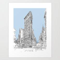 The Flat Iron Art Print