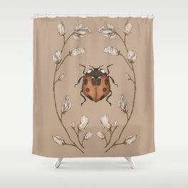 The Ladybug and Sweet Pea Shower Curtain