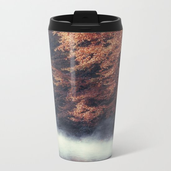 Nature's Mirror - Fall on the River Metal Travel Mug