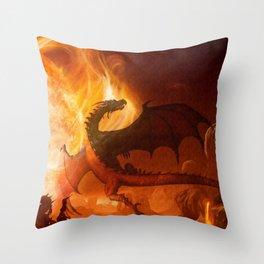 Dragon's world Throw Pillow
