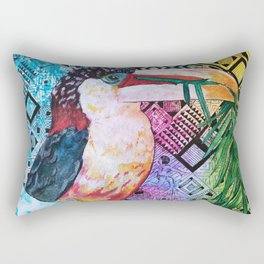 The Origin of the Aracari ( Toucan Bird Whisperer Project ) Rectangular Pillow