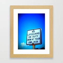 Lifeguard Framed Art Print