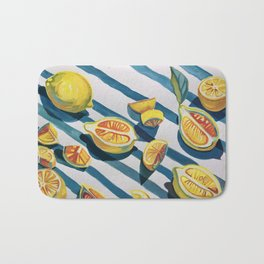 """When life gives you lemons"" Bath Mat"