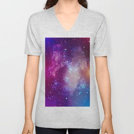 Pink Galaxy Painting Unisex V-Neck