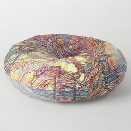 Emerging with Dawn Floor Pillow