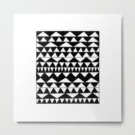 Black Triangles Metal Print