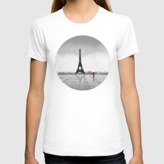 Paris Womens Fitted Tee White X-LARGE