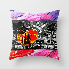 Colors of Africa Throw Pillow