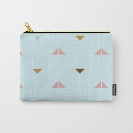Rustic Pastel Triangles Carry-All Pouch