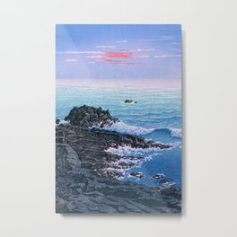 Morning at Cape Inubō by Hasui Kawase Metal Print