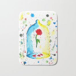 Rose (Beauty and the Beast) - Watercolor Painting Bath Mat
