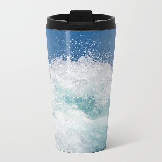 Crashing beautiful waves Metal Travel Mug