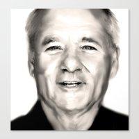 bill murray Canvas Prints featuring Bill Murray by DSutton1986