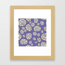 Purple conglomerate Framed Art Print