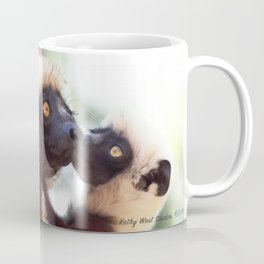 Love: Mother and Infant Coquerel's Sifaka Coffee Mug