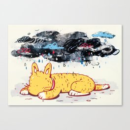 """""""Can a Cat Have an Existential Crisis?"""" by Jackie Ferrentino for Nautilus Canvas Print"""