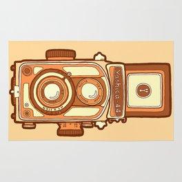 Vintage camera orange Rug