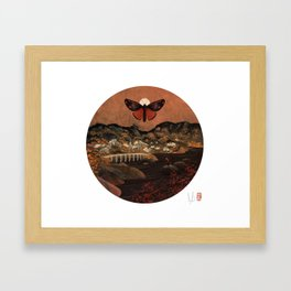 Cinnabar Moth Samurai Sunset Framed Art Print