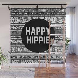 Happy hippie - b&w Wall Mural