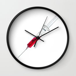 Injection of love Wall Clock