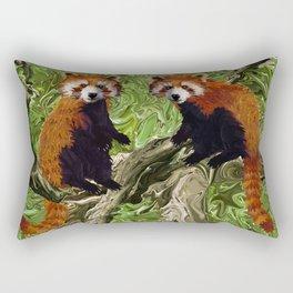 Frolicking Red Pandas Rectangular Pillow