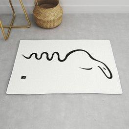 Black Dancing Cobra Rug