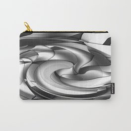 Black, grey, white abstract Carry-All Pouch