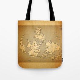 Gaia Midgar Final Fantasy VII Map Tote Bag